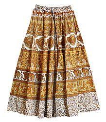 Sangenari Block Print Skirt