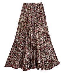 Black Lycra Long Skirt - Buy Online