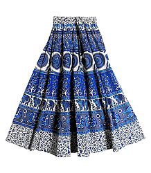 Sangeneri Print Cotton Skirt