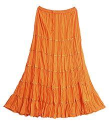 Dark Saffron Long Skirt