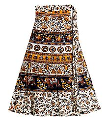 Printed Wrap Around Skirt