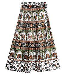 Buy Block Print Skirt