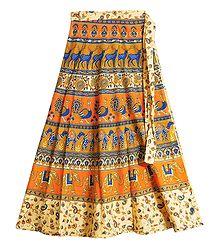 Buy Printed Wrap Around Skirt