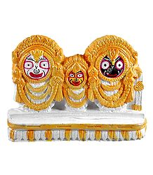 Jagannath, Balaram and Subhadra - Stone Dust Statue