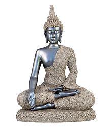 Meditating Lord Buddha - Sand Stone Statue