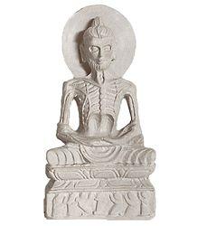 Emaciated Buddha - Stone Statue