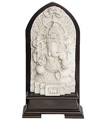 Lord Ganesha Sitting on a Throne