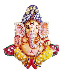 Sequin Studded Ganesha Wall Hanging
