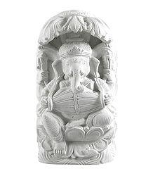 Stone Dust Ganesha Statue