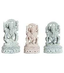 Three Standing Ganesha
