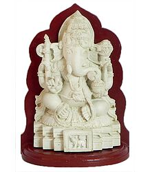 Lord Ganesha Sitting on a Platform