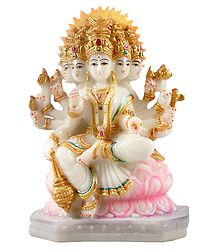 Goddess Gayatri - Marble Dust Statue