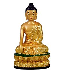 Golden Buddha - Stone Dust Statue