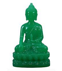 Green Buddha in Bhumisparsha Mudra