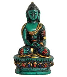 Lord Buddha - Turquoise Stone Dust Statue