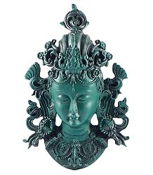 Stone Dust Wall Hanging Green Tara Face