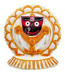 Jagannathdev on a Round White Lotus
