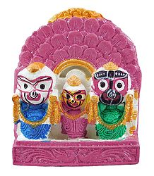 Jagannath, Balaram, Subhadra for Car Dashboard