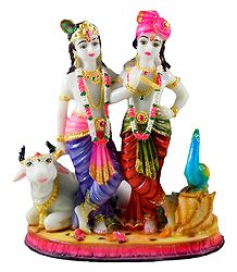 Krishna, Balaram with Cow