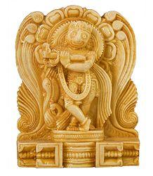 Jagannathdev as Krishna - Stone Dust Statue