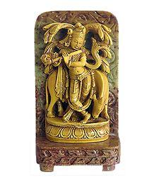 Murlidhara Krishna - Stone Dust Statue