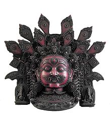 Stone Dust Mahakala Mask for Wall Decoration