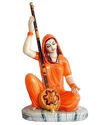 Meerabai - Marble Dust Statue