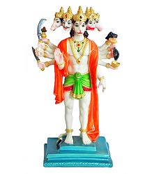 Panchamukhi Hanuman - Marble Dust Statue