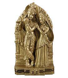 Radha Krishna - Stone Dust Statue