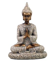 Lord Buddha in Prayer Mudra - Sandstone Dust Statue
