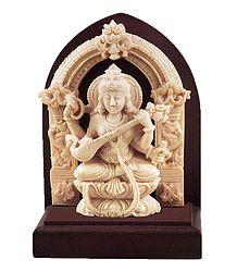 Goddess Saraswati - Stone Dust Statue