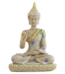 Buddha in Abhay Mudra - Sand Stone Statue