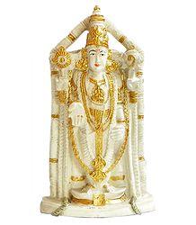 Lord Venkateshwara - Stone Dust Statue