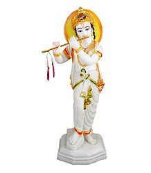Murlidhar Krishna - Marble Dust Statue