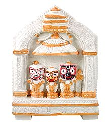 Buy online Jagannath, Balaram, Subhadra in White Temple