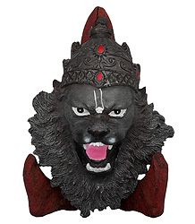 Face of Narasimha Avatar with Wooden Stand