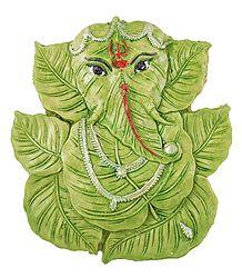 Leaf Ganesha - Stone Statue