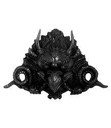 Black Garuda Face - Wall Hanging Stone Dust Mask
