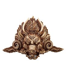 Light Brown Garuda Face - Wall Hanging Mask