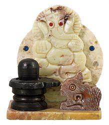 Ganesha with Shiva Linga