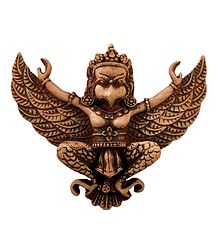 Brown Garuda, The Vahana of Lord Vishnu - Stone Statue