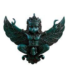 Blue Garuda, The Vahana of Lord Vishnu - Stone Statue