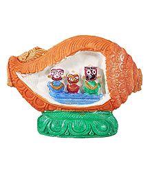 Buy Jagannath, Balaram, Subhadra - Stone Dust Statue
