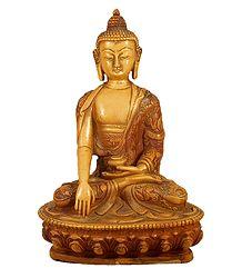 Buddha in Bhumisparsha Mudra - Stone Dust Statue