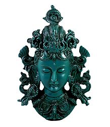 Turquoise Tara Face - Stone Dust Sculpture