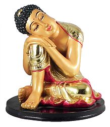 Thinking Buddha in Golden Robe