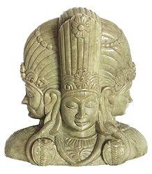 Trinity - Brahma, Vishnu, Maheshwar - Marble Statue