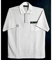White Polo T-Shirt - Size - XL
