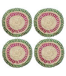 Four Hand Woven Round Jute Table Mats