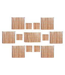 13 Pieces Dining Table Mats Made with Bamboo